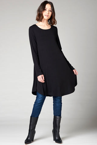 Parisian Hi-lo Tunic - Black