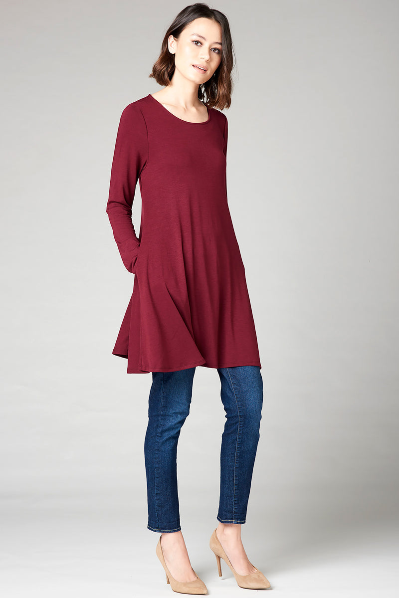 Classic Tee Dress - Currant