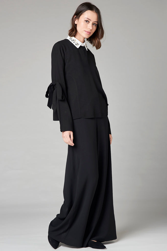 Black Palazzo Trousers