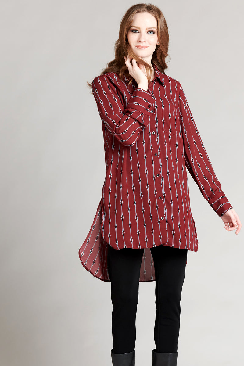Pocket Shirt Dress - Diamond