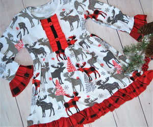 Winter Moose Dress