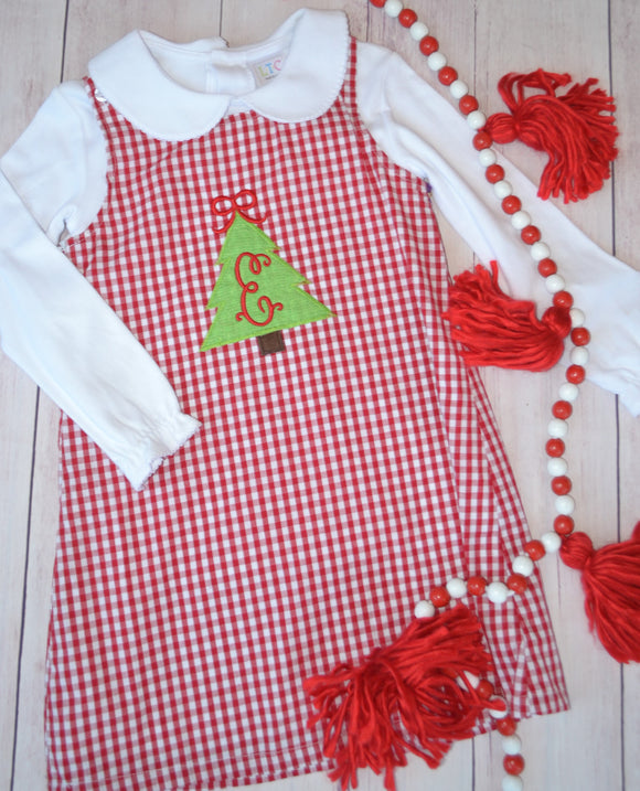 Girls Red Checked Dress