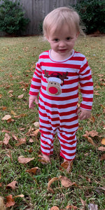 Red Reindeer Romper
