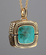 Sally Turquoise Blue/Gold