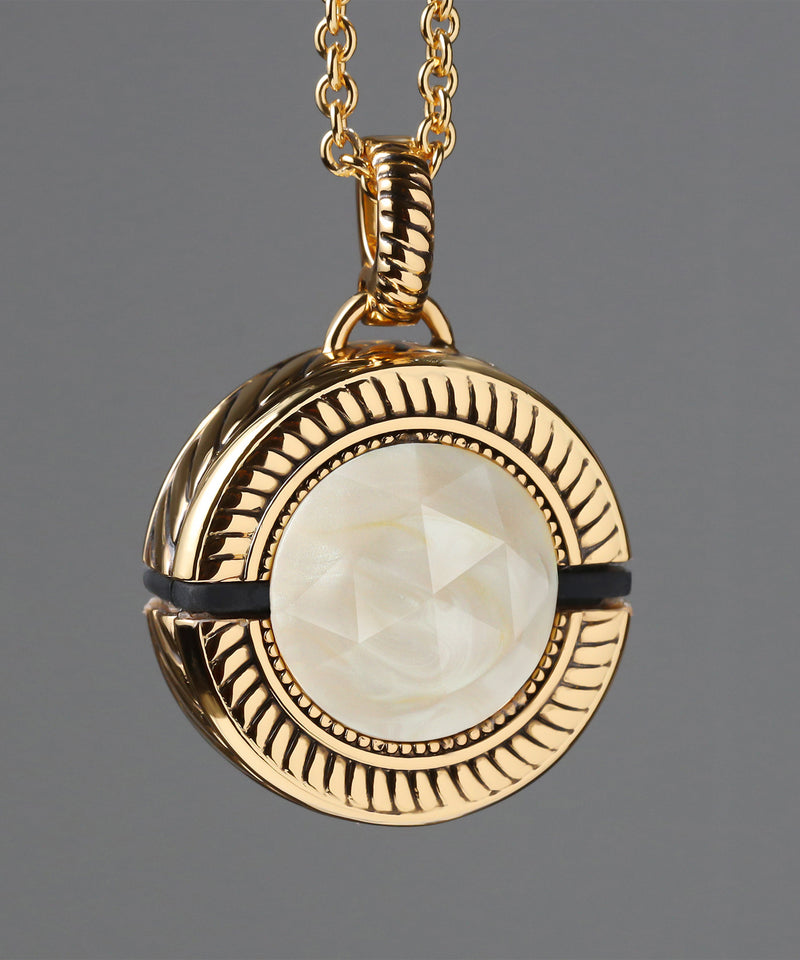Bella White Mother of Pearl/Gold