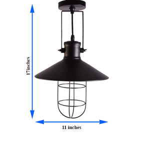 Industrial Black Pendant Light with Shade for Home Bar Restaurant E27