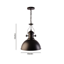 Load image into Gallery viewer, Industrial Look Pendant Light, Black-Starry Night
