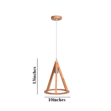 Load image into Gallery viewer, Triangle Wood Pendant Light