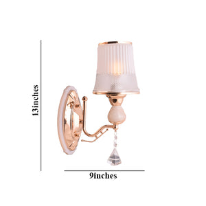 Decorative Gold Wall Light with Glass Shade, E27