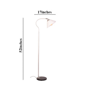 Reading Floor Lamp Modern Lamp, Silver E27