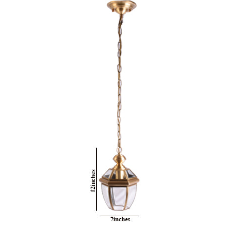 Polished Bronze Outdoor or Indoor Pendant Light