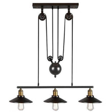 Load image into Gallery viewer, Retro Pendant Retractable Chandelier Light Adjustable Lamp 3 Head-Starry Night
