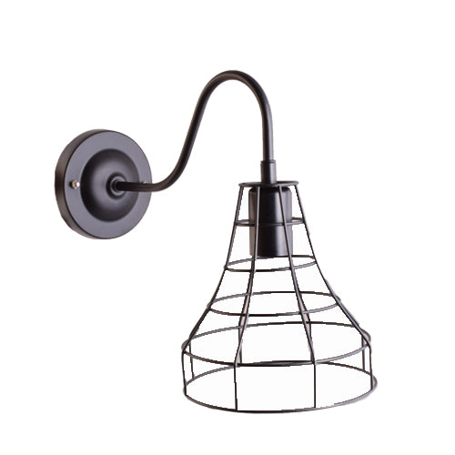 Cage Wall Light Industrial Edison Look, E27