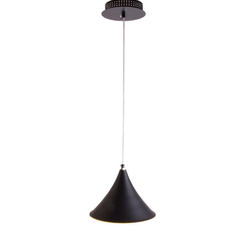 Cone LED Pendant Light Black