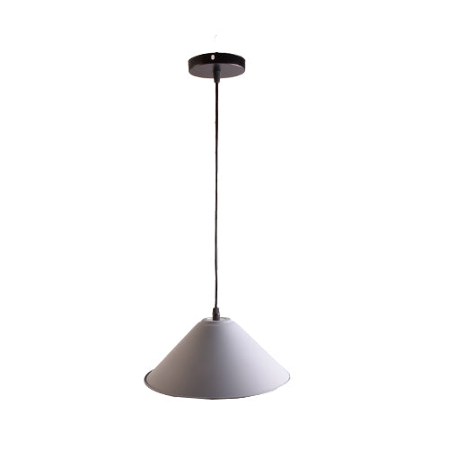 Grey Pendant Light E27 Bulb Holder