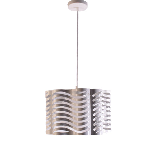 White Pendant Light with Shade E27 Holder