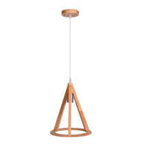 Load image into Gallery viewer, Triangle Wood Pendant Light for Home Bar Restaurant E27