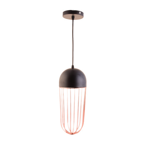 Copper Cage Black Pendant Light with E27 Holder-Starry Night