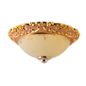 LED Decorative Ceiling Light 3 in 1 Color 12.5 inches, Yellow Gold