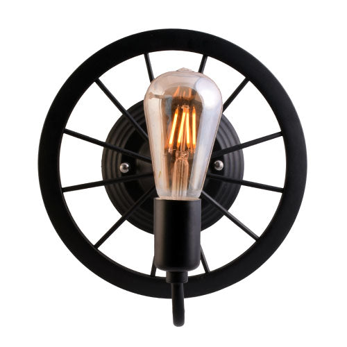 Wheel Wall Lamp 1 Light-Starry Night