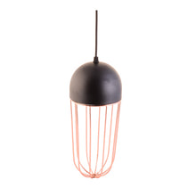 Load image into Gallery viewer, Copper Cage Black Pendant Light with E27 Holder