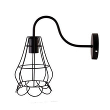 Load image into Gallery viewer, Industrial Vintage Metal Cage Wall Light