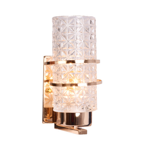 Golden Decorative Wall Light with Crystal Glass Shade, E14-Starry Night