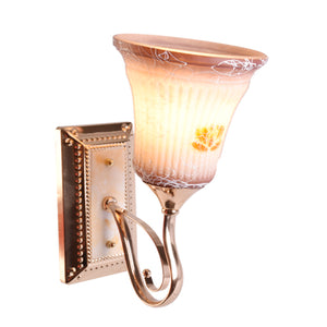 Wall Light Decorative Gold with Glass Shade E27
