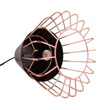 Load image into Gallery viewer, Black Pendant Light with Copper Cage