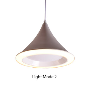 Cone LED Pendant Light White