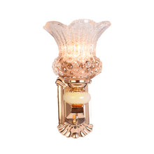 Load image into Gallery viewer, Golden Decorative Wall Light with Glass Shade, E14