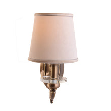 Load image into Gallery viewer, Antique Gold Wall Lamp with Fabric Shade