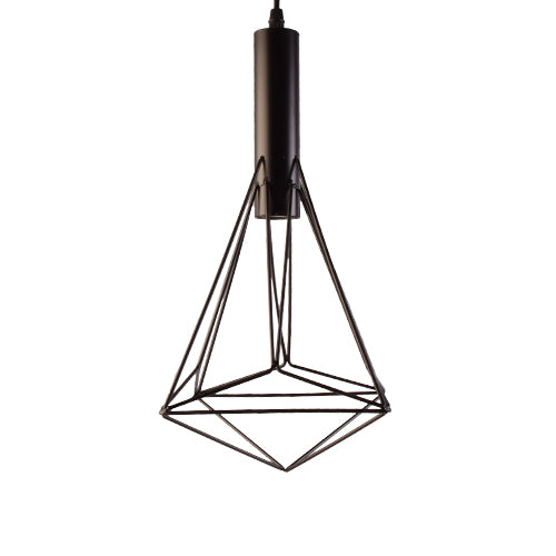 Geometric Pendant Light 1 E27 Holder, Black-Starry Night