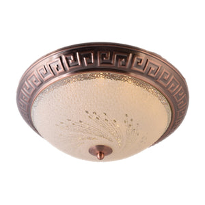 LED Decorative Ceiling Light 12.5 inches 3 in 1 Color, Antique Gold