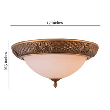 Load image into Gallery viewer, LED Decorative Ceiling Light with Glass Shade 2 in 1 Colour 20 watt