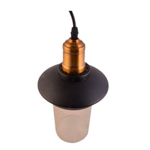 Load image into Gallery viewer, Black Top Brown Glass Pendant Light