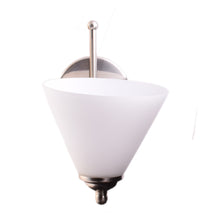 Load image into Gallery viewer, Wall Light Brushed Metal with White Glass Shade