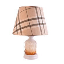 Load image into Gallery viewer, White Table Lamp with Checkered Shade