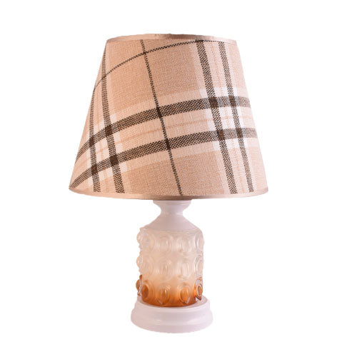 White Table Lamp with Checkered Shade-Starry Night