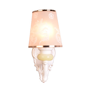 Wall Light White with Gold, E27