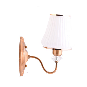 Wall Light Fixtures with Glass Shade, Bronze