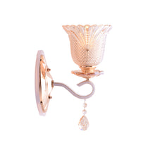 Load image into Gallery viewer, Gold LED Wall Lamp with Glass Shade