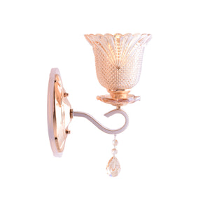 Gold LED Wall Lamp with Glass Shade