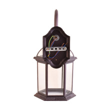 Load image into Gallery viewer, One-Light Outdoor Wall Lantern with Clear Glass, Brown-Starry Night