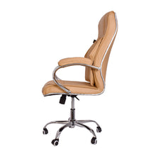 Load image into Gallery viewer, High-Back Light Brown Executive Office Chair with Armrest