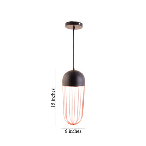 Copper Cage Black Pendant Light with E27 Holder