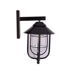 Wall Light Lantern Light E27, Black