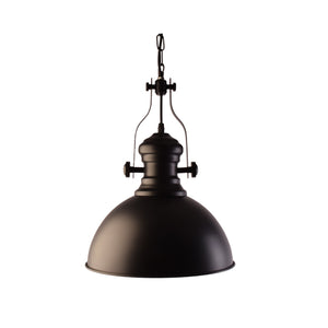 Industrial Look Pendant Light, Black