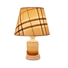 Load image into Gallery viewer, White Table Lamp with Checkered Shade-Starry Night