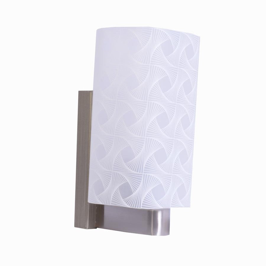 White Glass Wall Light With Print-Starry Night